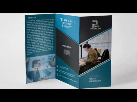 Business Tri fold Brochure Design – Illustrator Tutorial | Create Tri fold Brochure thumbnail