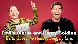 Emilia Clarke and Henry Golding Sing and Try to Guess the Holiday Song by Lyric