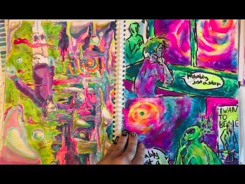Мой самый любимый скетчбук!/sketchbook tour