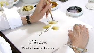 Nan Rae Paints Ginkgo Leaves