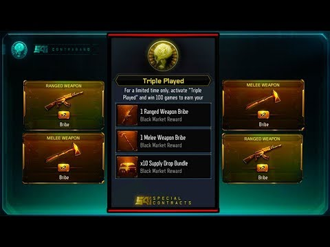 "unlocking new ""TRIPLE PLAY"" contract for Subscribers! - Unlocking Free DLC Weapons on Black Ops 3"
