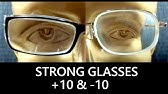 0eddc0c51c Super strong glasses- Thick lens for heavy myopia(-37D) - YouTube