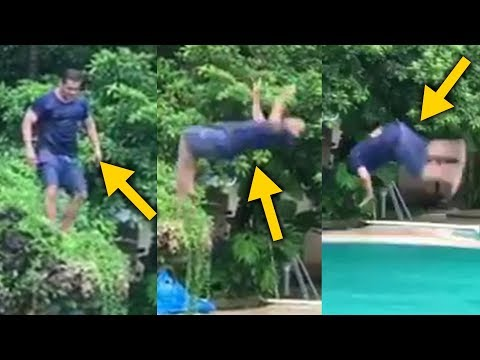 Salman Khan DEADLY Back Flip DIVE In Swimming Pool Will SHOCK You Mp3