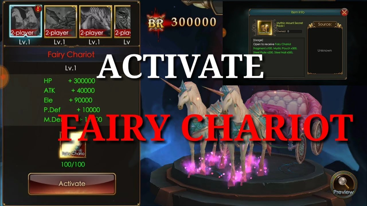 Activate fairy chariot | Br Boost | Legacy of Discord