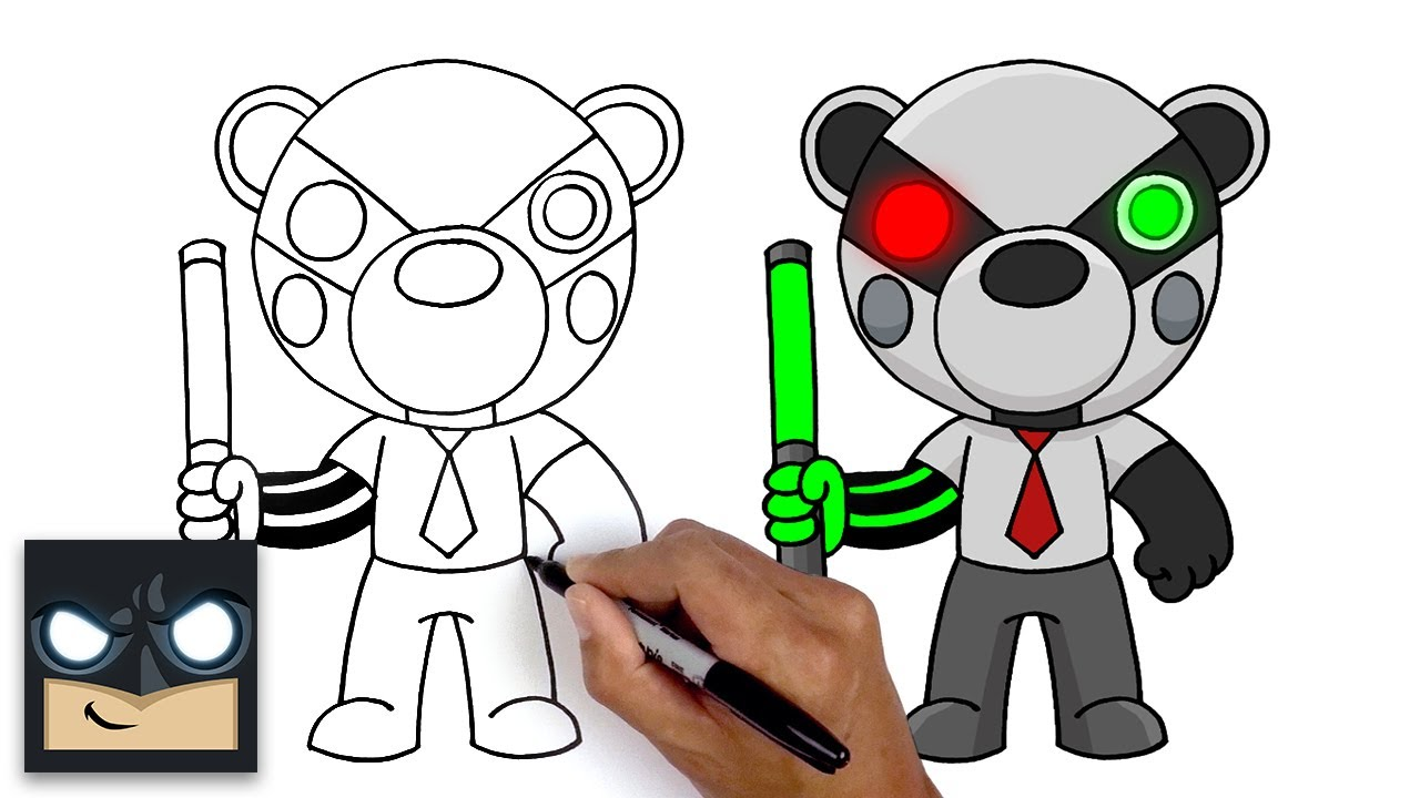 How To Draw Badgy | Roblox Piggy - YouTube