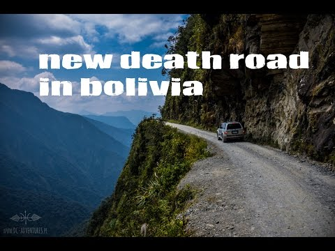 Driving through a new Death Road in Bolivia
