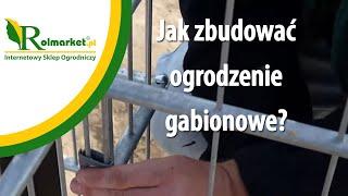 Ogrodzenia gabionowe. Gabiony. Jak zbudować ogrodzenie gabionowe? www.rolmarket.pl