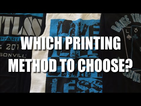 Starting A Clothing Line | Screen Printing vs DTG Printing