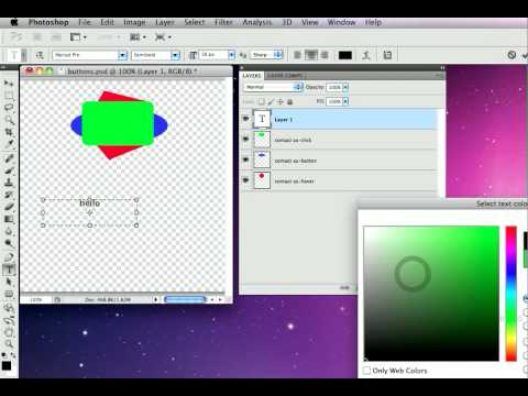 07-Graphic Button And Text Button - Photoshop To HTML Websites With SG3