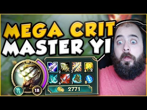 THIS MEGA CRIT MASTER YI BUILD IS ACTUALLY DUMB! FULL AD MASTER YI TOP GAMEPLAY! League of Legends