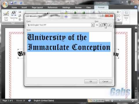 Making Certificate in Microsoft Word 2007 YouTube – Make a Certificate in Word