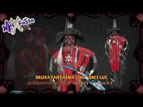 Bruxa Fantasma Com Som E Luz - YouTube cec8b96894c