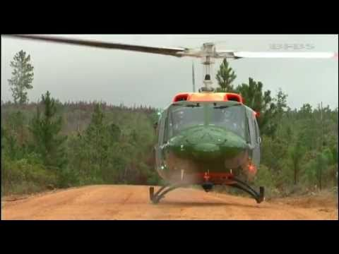 Final flight for the Bell 212 helicopter in Belize 15.07.11