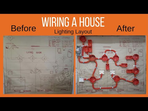 Electrical Tutorial: Wiring a House: Lighting Layout #Part1 TB Electricals