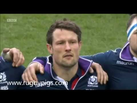 Scotland Rugby team sing
