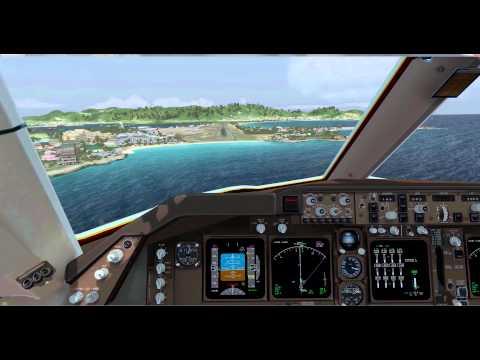 [Prepar3D] | VATSIM | iFly 747-400 V2 | Flytampa St. Martin TNCM Landing | (Titan X + 4K UHD)