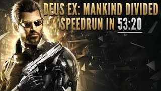 Deus Ex: Mankind Divided Speedrun in 53:20 [Personal Best]