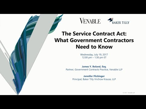 The Service Contract Act What Government Contractors Need To Know