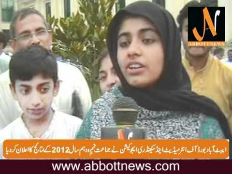 Abbottabad Board Matric Result 2012