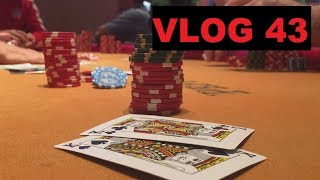 Flopping a STRAIGHT FLUSH, and seeing an OVERBET! | Poker Vlog 43
