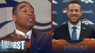 Cris Carter reveals why Case Keenum isn't a franchise QB, Talks Jets draft move | FIRST THINGS FIRST