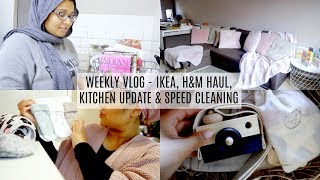 VLOG - IKEA & H&M HAUL, KITCHEN UPDATE & SPEED CLEANING