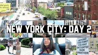 new york city vlog day 2 high line shopping disaster best bagel in nyc