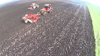 Case Tractors on Lincolnshire farm Drone video with DJI Phantom and Go-pro Hero 3