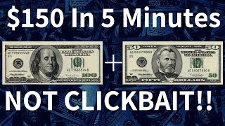 Make $150 Dollars In 5 Minutes RIGHT NOW! [Fast PayPal Money]
