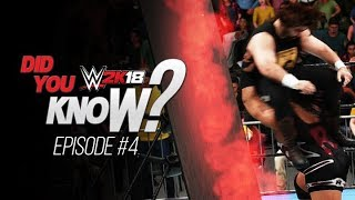 WWE 2K18 Did You Know? Unlimited Flaming Tables, Fire on the Mat/Turnbuckle, Hot Tags & More! (EP 4)
