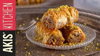 Rolled Baklava (Saragli) | Akis Kitchen