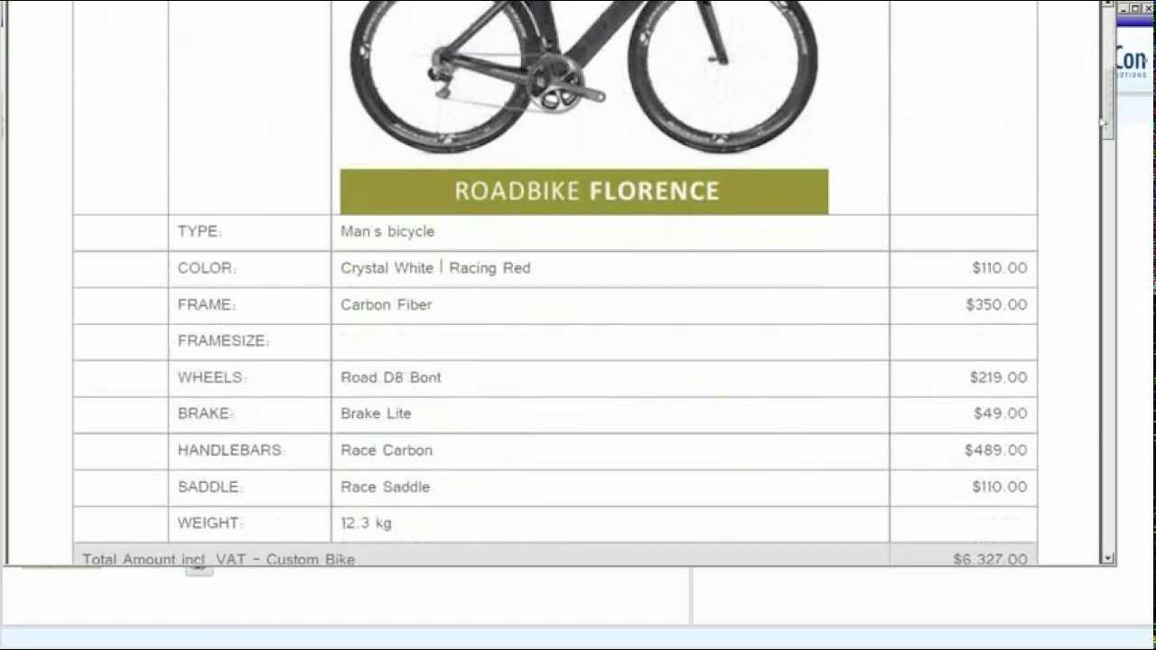 The e-Con bike configurator, watch and interact | Custom bike configuration
