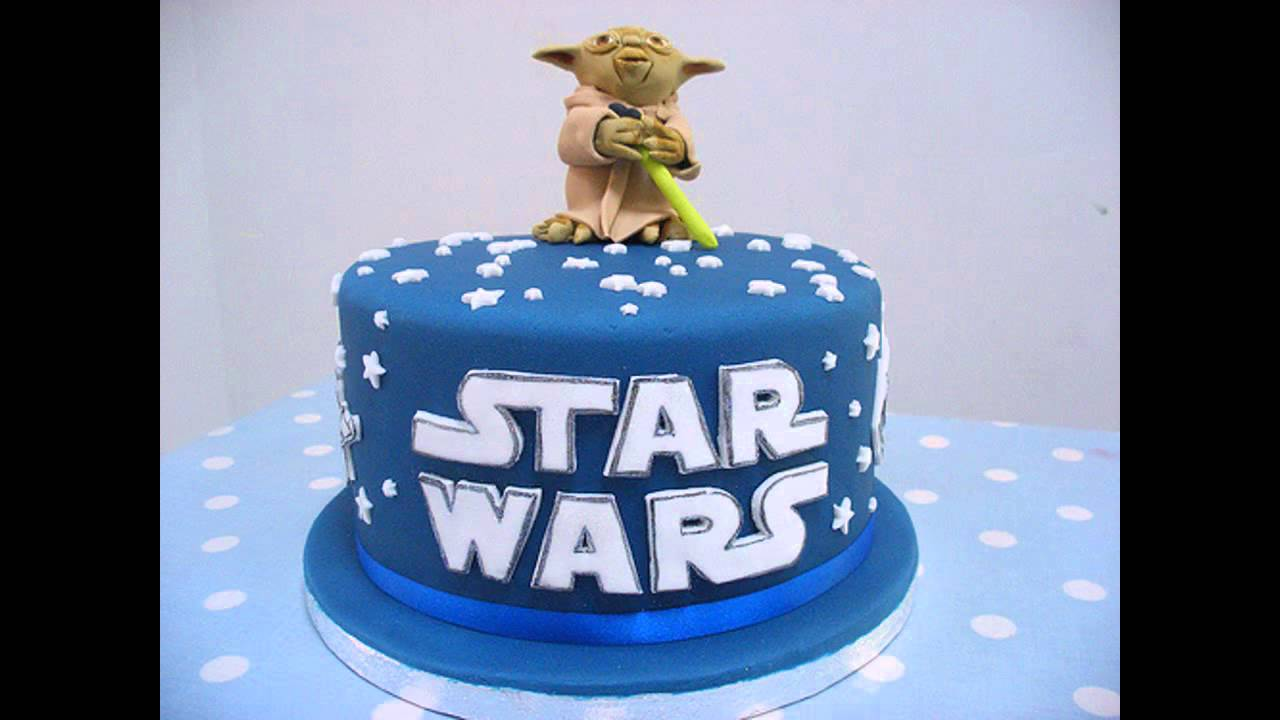 Popular star wars cake decorations youtube for Star wars dekoration