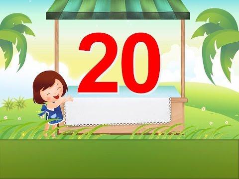 Bé đếm số từ 1 đến 20 tiếng Anh| Bé học số tiếng Anh| Giáo dục sớm cho trẻ EEB