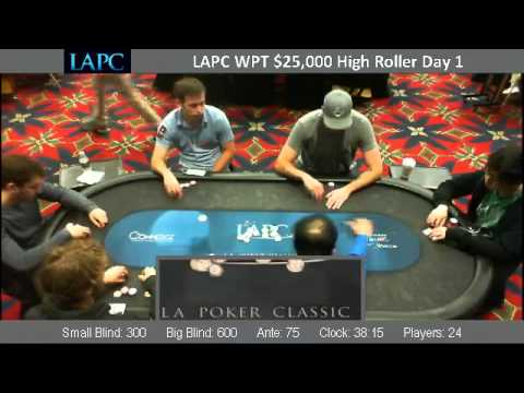 LAPC WPT $25,000 High Roller Day 1