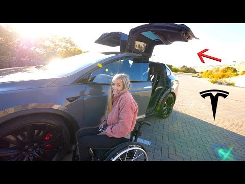 The Best Car For Someone In A Wheelchair?! - Our New Tesla Model X!