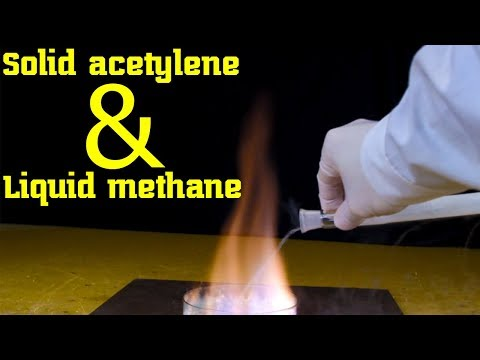 Liquid methane CH4 and Solid acetylene C2H2