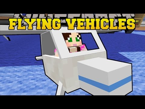 Minecraft: FLYING VEHICLES (GOLF CART, DUNE BUGGY, & GLIDERS!) Mod Showcase
