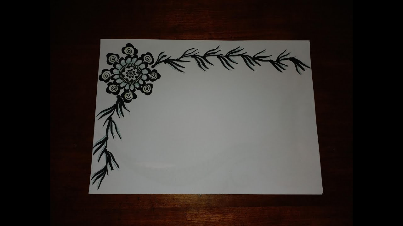 Very Simple Easy Decorative Border Design For Project File 149