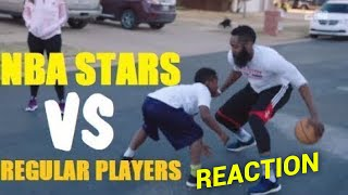 Former D1 Hooper Reacts to NBA STARS VS Regular Basketball Players