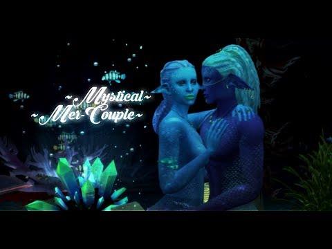 Mystical Mer-Couple| Sims 4 CAS|+ CC Links