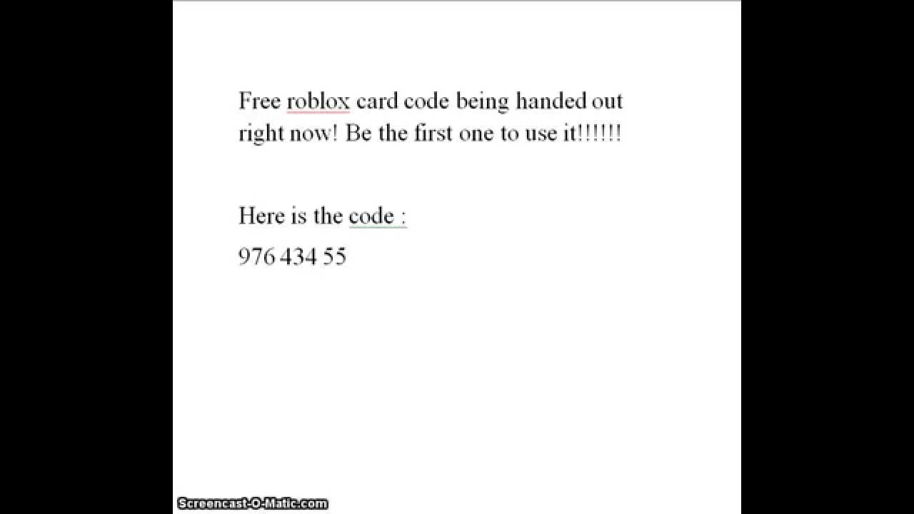 It may have millions of free games but only a few of them allow. FREE ROBLOX CARD CODES - YouTube