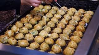 [Japan Street Food]   Takoyaki たこ焼き @ Osaka