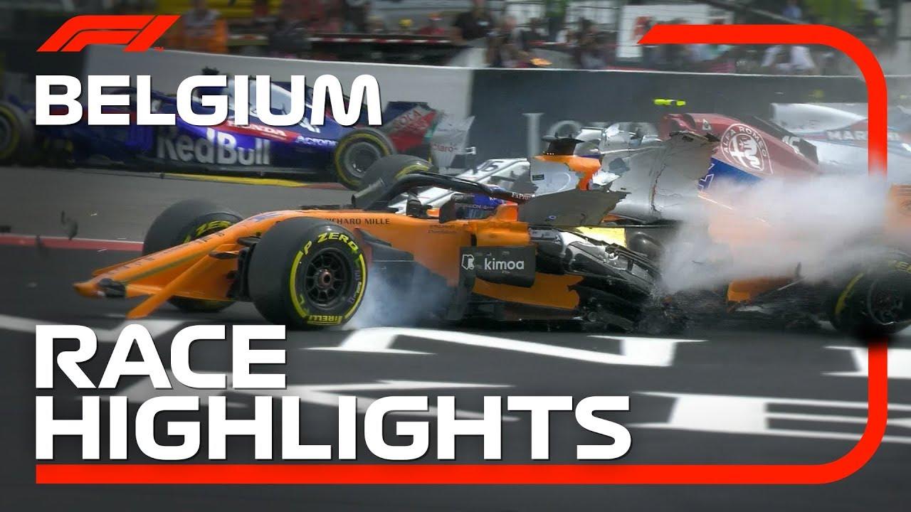 2018 Belgian Grand Prix Race Highlights Youtube