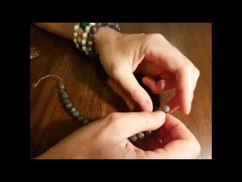 Как завязать и спрятать узел на силиконе при сборке браслета