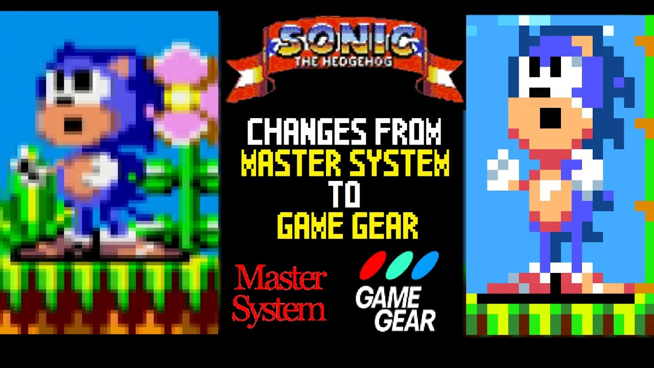 Sonic The Hedgehog 8 Bit Changes From Master System To Game Gear 25th Anniversary Special Youtube