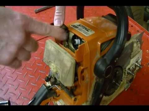 How To Replace The Bar Chain Oil Pump Worm Gear On A Stihl Ms 029 Chainsaw You