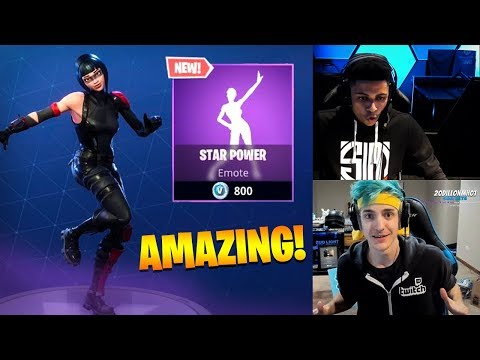 "Myth & Ninja *REACTS* TO *NEW* ""STAR POWER"" EMOTE/DANCE!  - FORTNITE Savage & FUNNY Moments!"