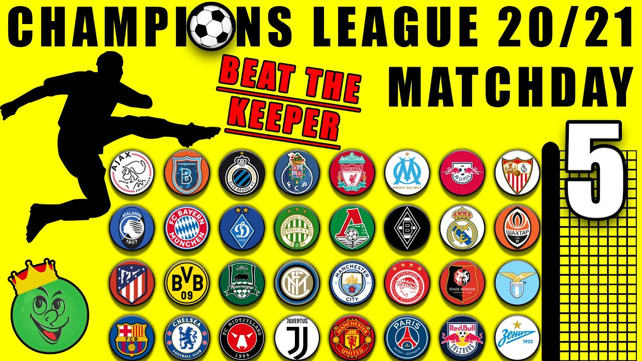 Beat The Keeper - Champions League 2020/21 Group Stages Matchday 5 in Algodoo / Marble Race King