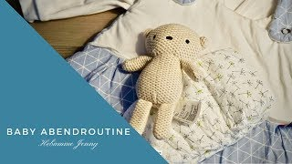 Baby Abendroutine, Baby schlafen legen, Baby Abendrituale
